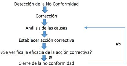 pasos para analizar una no conformidad