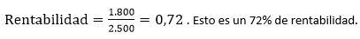 Ejemplo numérico formula rentabilidad para medir un plan de capacitacion