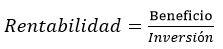 Formula rentabilidad para medir la capacitacion