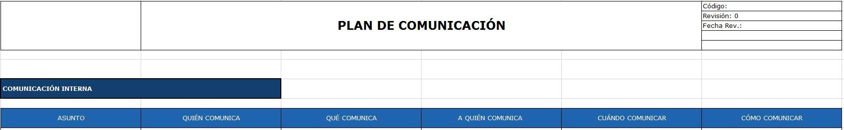 ejemplo plan de comunicacion