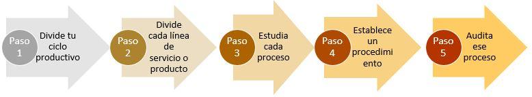 5 Pasos para realizar una estandarizacion de procesos