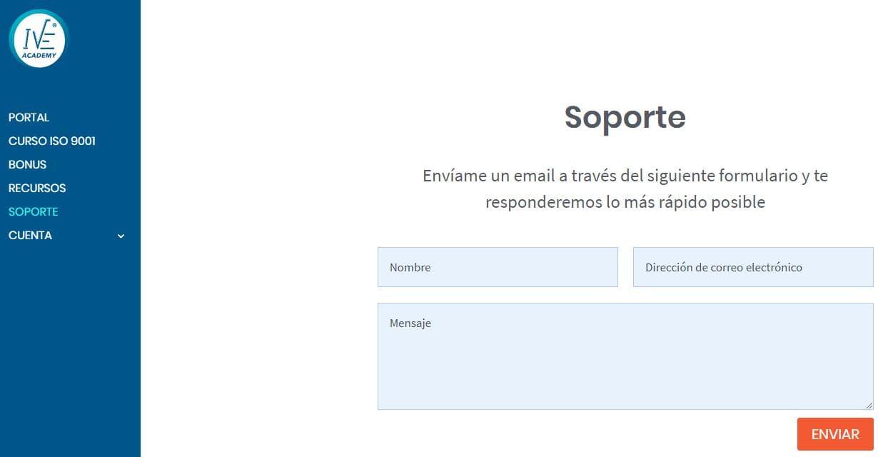 soporte curso online
