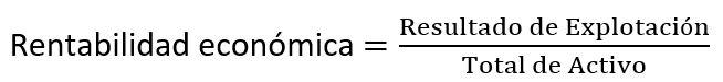 formula rentabilidad económica