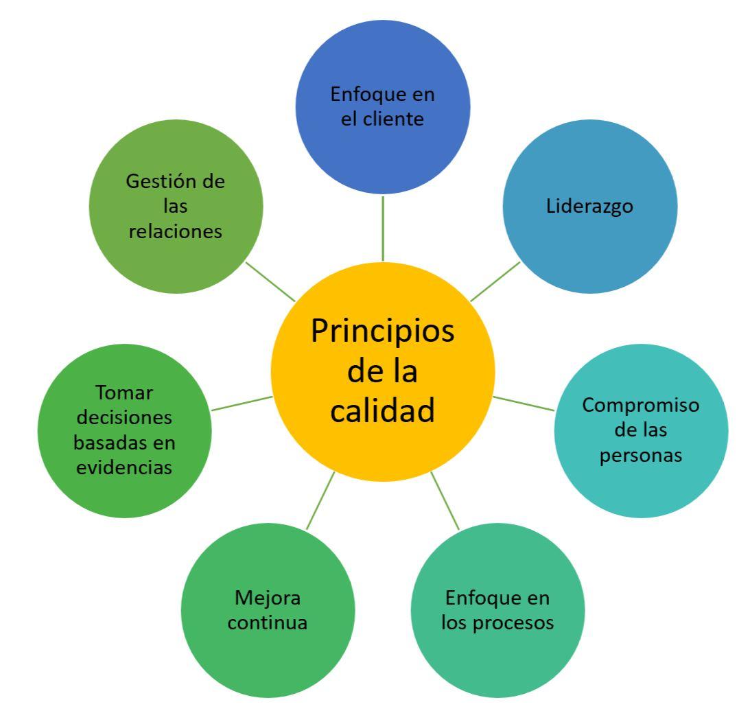 esquema principios de la calidad