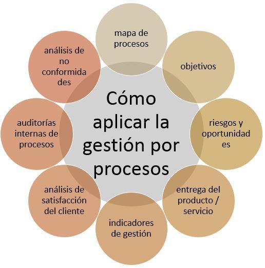 esquema para aplicar la gestion por procesos