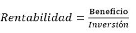 formula rentabilidad